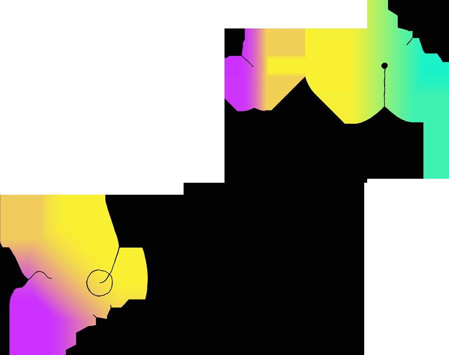 Illustrazione con bolle colorate